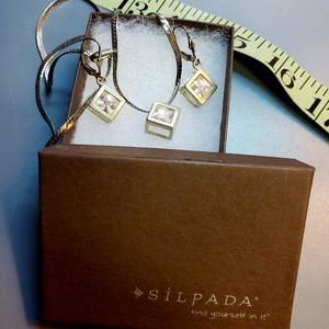 Silpada Sterling silver CZ Cube Set